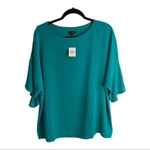 J. Jill whatever collection green blouse NWT